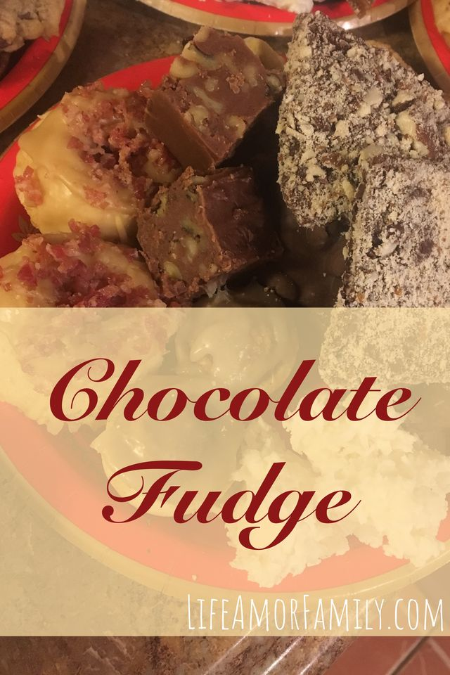 chocolate fudge with and without walnuts